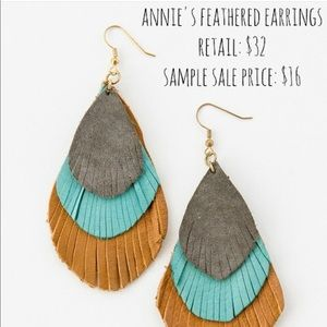 Noonday collection Annie's feathered earrings